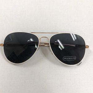 New Loft White Trim Aviator Sunglasses